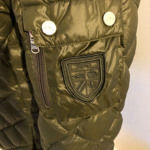 94f18756a Womens L green Ralph Lauren long quilted down coat